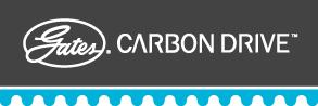盖茨碳纤维驱动网站标志