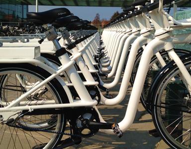Leihradsystem in Kopenhagen mit Gates Carbon Drive